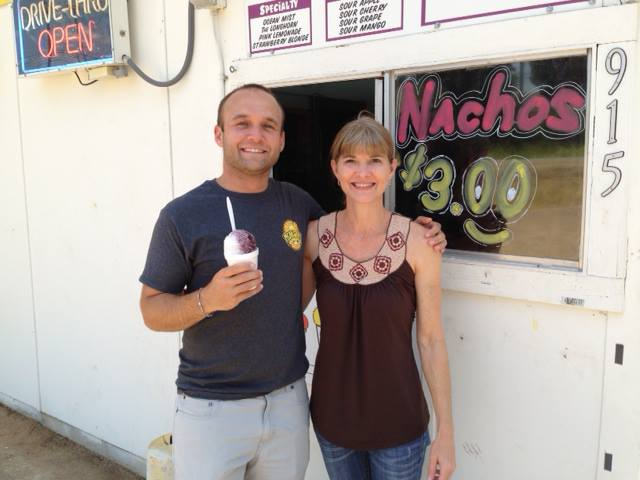Patricia and The Daytripper! Yes, I was a bit excited he and his family came by to enjoy a snoball!